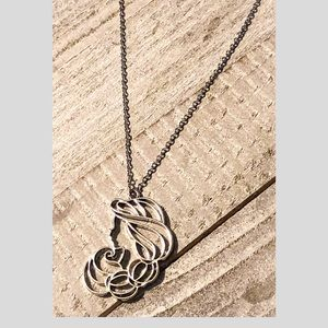 Princess Jasmine Silhouette Necklace